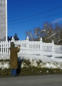 carol and her fence posts