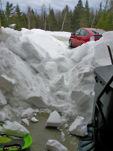 avalanche of snow