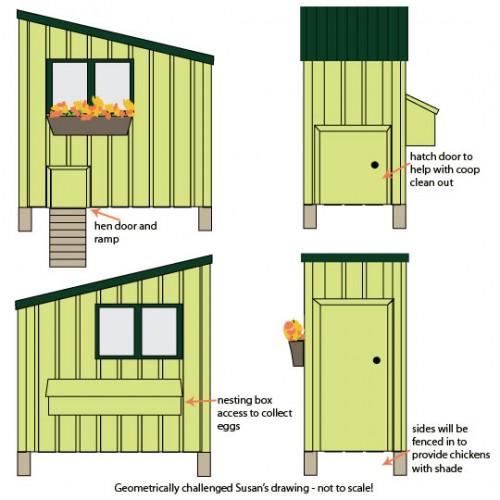 chicken coop elevations