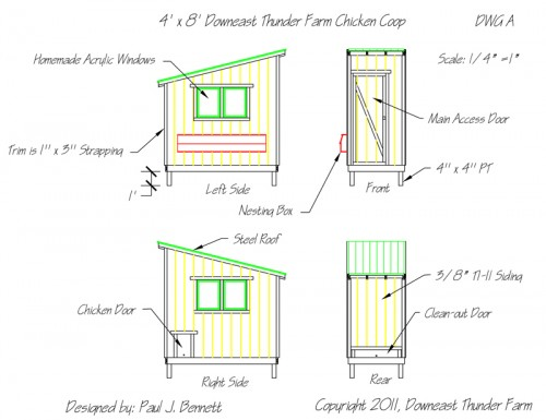 Chicken Coop Drawings