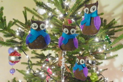 free felt owl ornament pattern