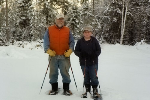Hannah and Paul with Snowshoes