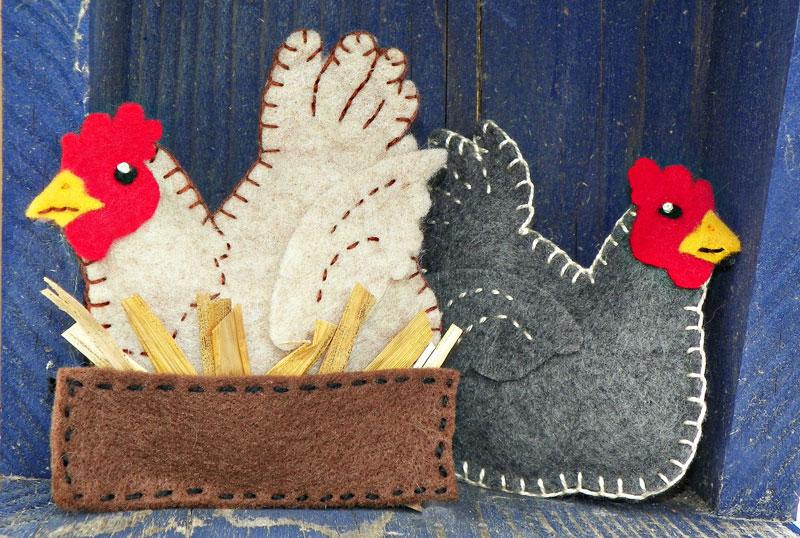 A buff in the box u2013 felt chicken ornament pattern downeast thunder