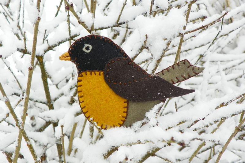 Felt Christmas Decorations To Make Free Patterns.Longing For Spring Felt Robin Ornament Downeast Thunder Farm